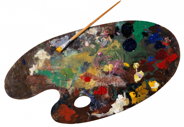 Paleta z farbami