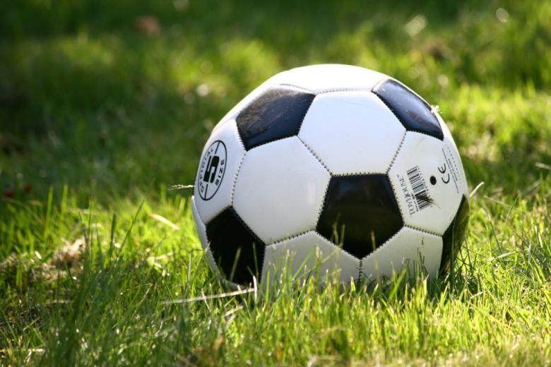 Piłka do gry w piłę nożną na trawie