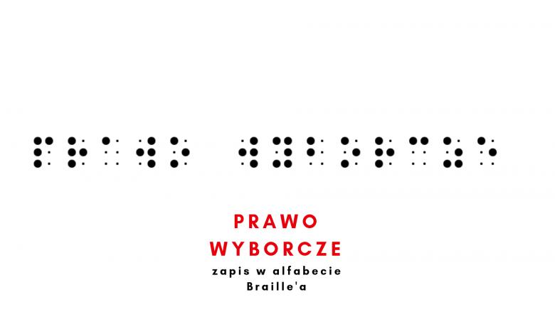 Napis w alfabecie Braille'a  symbolizujący problem