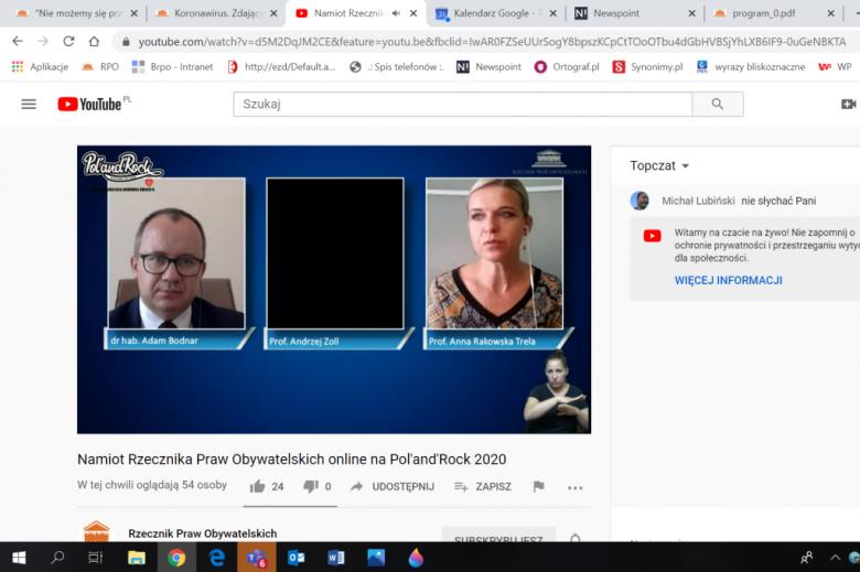 Zdjęcie mężczyzny i kobiety na dwóch ekranach komputera