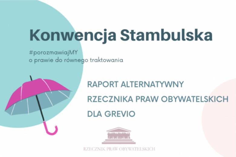 """plansza z różową parasolką i napisem """"konwencja stambulska"""""""