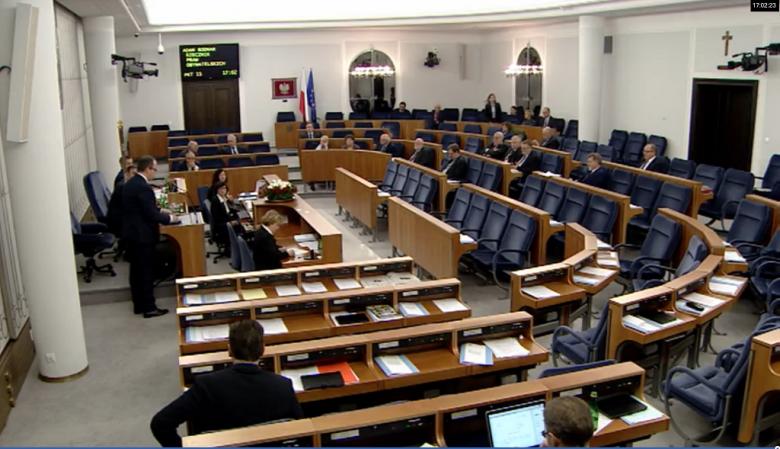 Zdjęcie: widok ogólny sali plenarnej Senatu