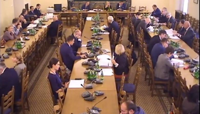 Zdjęcie z komputera: posiedzenie komisji sejmowej