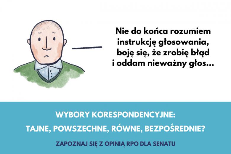Grafika o wyborach korespondencyjnych, czy zrozumiem instrukcję głosowania?