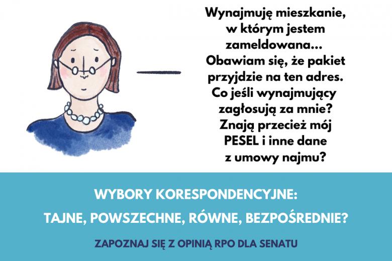 Grafika o wyborach korespondencyjnych, czy nie będzie dochodziło do oszustw?