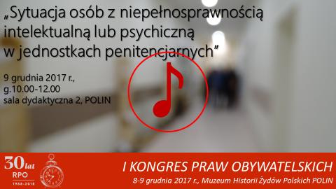 Mem ze zdjęciem szpitalnego korytarza, znak odtwarzania dźwięku