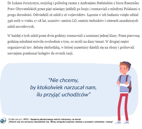 grafika: fragment strony internetowej magazynu TVN24