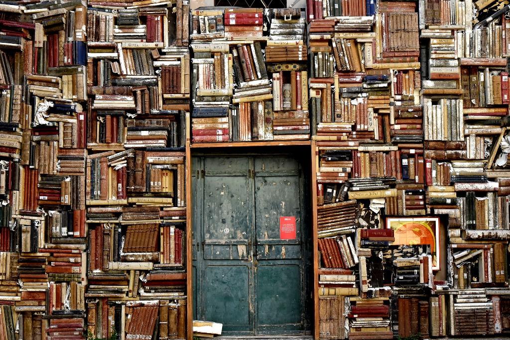 Biblioteka i stare drzwi