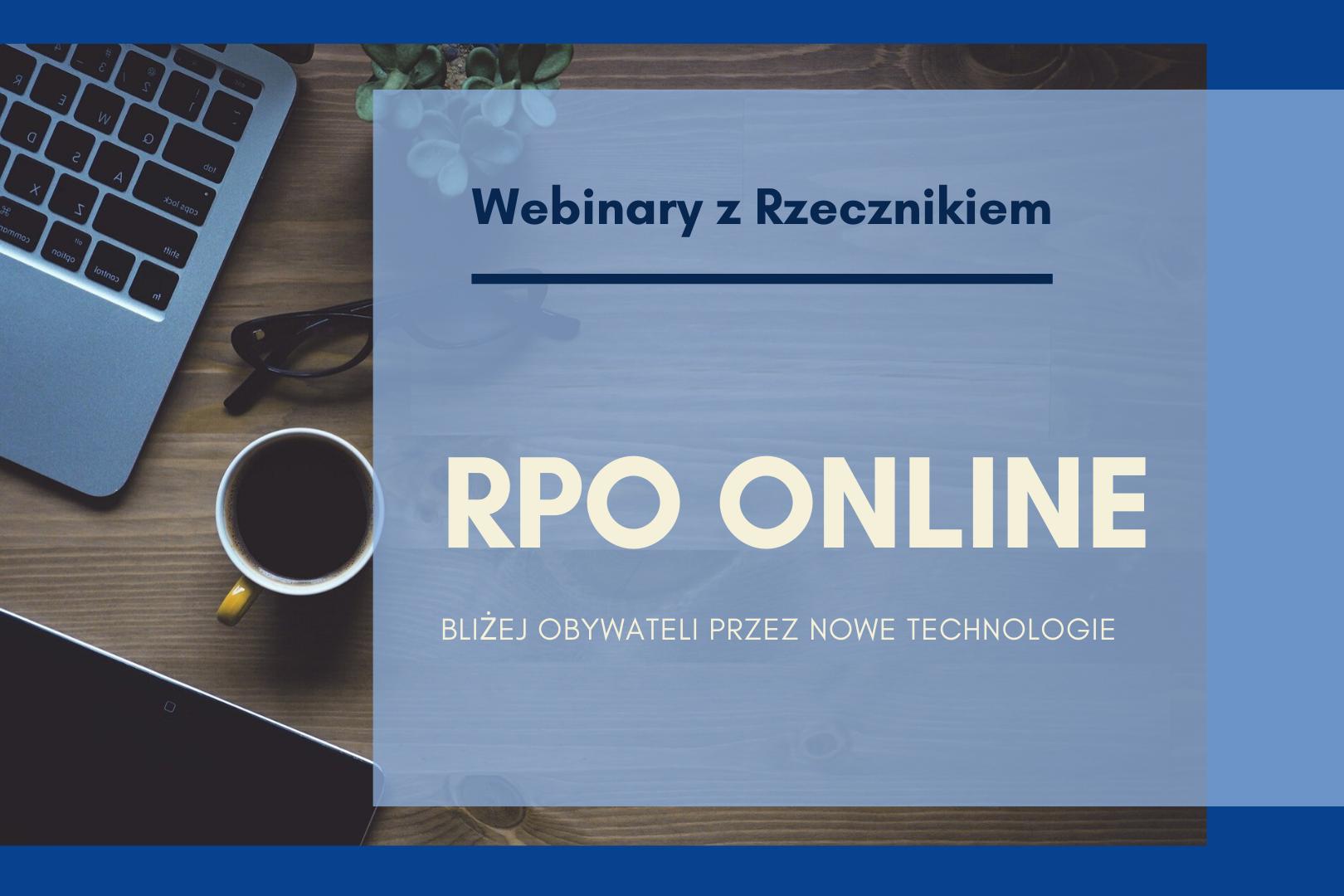 plansza z napisem RPO online