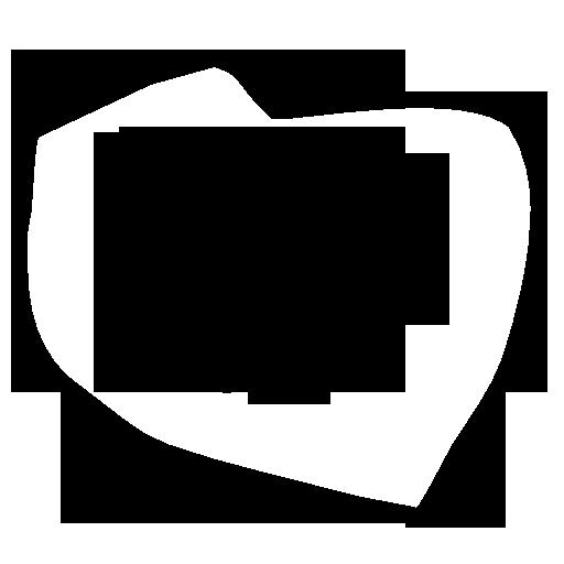 Symbol przedstawiający kontur mapy Polski z sercem w środku
