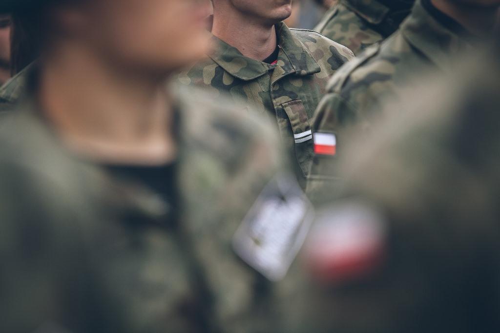 Żołnierze na zbiórce