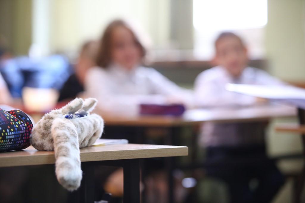 Zabawka i dzieci na lekcji